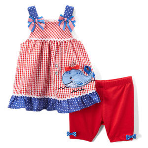 NWT Nannette Whale Swing Top Shorts Girls Outfit